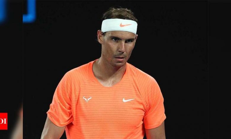 Rafael Nadal not ready to play yet due to back issue, skips Dubai event | Tennis News - Times of India
