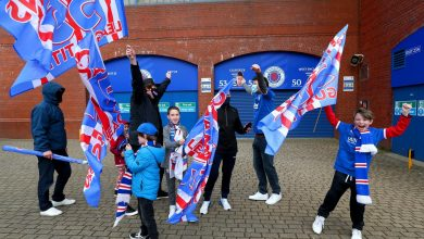 Rangers fans head to Ibrox to celebrate spoiling Celtic's ten-in-a-row dream with league victory