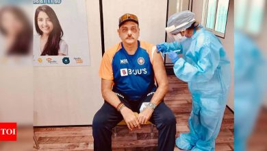 Ravi Shastri receives first dose of COVID-19 vaccine in Ahmedabad | Off the field News - Times of India