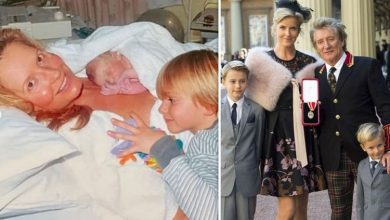 Rod Stewart's wife Penny shares unseen pic from son's birth following Loose Women backlash