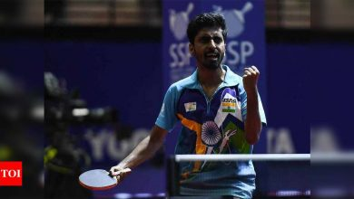 Sathiyan played with injured shoulder to clinch his first Olympic berth | More sports News - Times of India