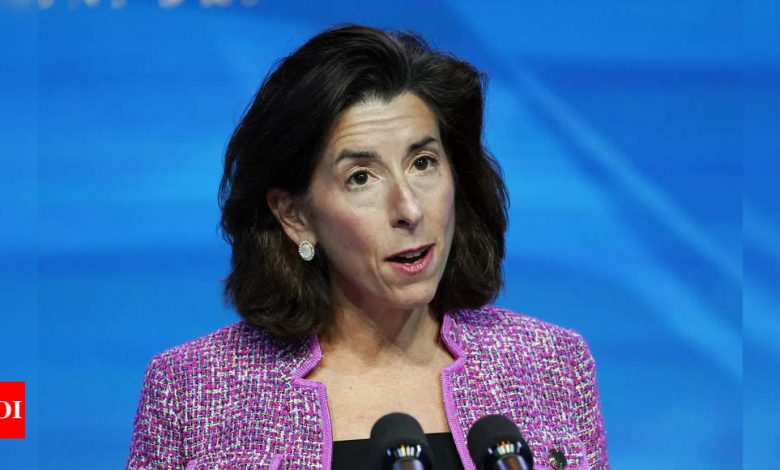 Senate confirms Gina Raimondo as Biden commerce secretary - Times of India