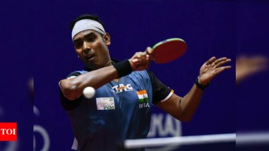 Sharath goes down in pre-quarters as Indian challenge ends in WTT Contender Doha | More sports News - Times of India
