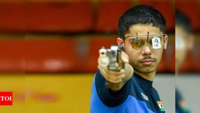 Shooting World Cup: Vijayveer, Tejaswani win gold in 25m rapid fire pistol mixed event   More sports News - Times of India