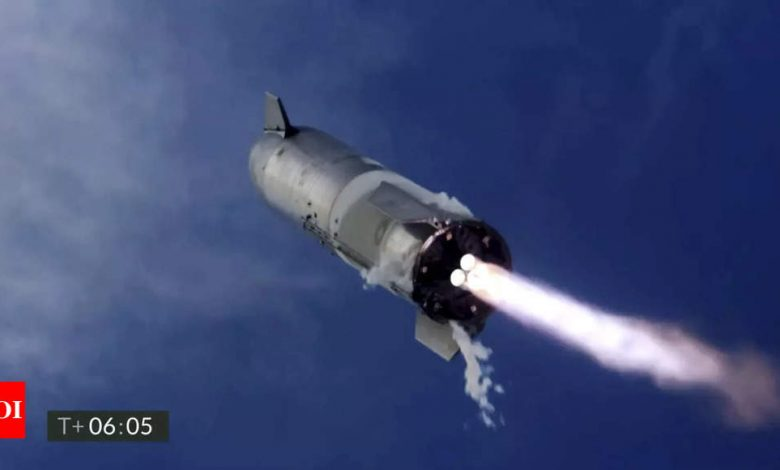 SpaceX starship sn10: SpaceX Starship lands upright, then explodes in latest test | - Times of India