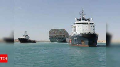 Suez blockade ends as moon & tides cut 'Ever Given' free - Times of India