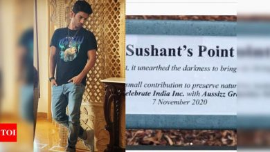 Sushant Singh Rajput's sister shares a glimpse of benches named after him in Australia; says 'you will always live on' - Times of India ►
