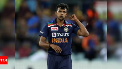 T Natarajan passes fitness test, back in dugout | Cricket News - Times of India