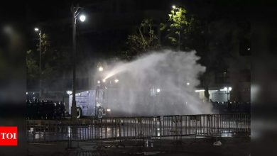 Thailand police use tear gas, rubber bullets to break up protest - Times of India