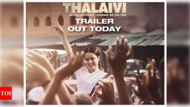 'Thalaivi' trailer: Kangana Ranaut stands tall as a woman in a world of men in powerful trailer on superstar turned politician Jayalalithaa - Times of India