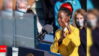 US' youngest inaugural poet says guard tailed her, said she looked 'suspicious' - Times of India