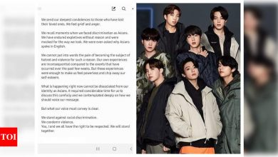 'We stand against racial discrimination,' say BTS in emotional note calling to stop Asian hate - Times of India