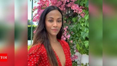 Zoe Saldana: I am obsessed with my family - Times of India