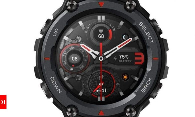 amazfit:  Amazfit T-Rex Pro smartwatch to launch on March 28 in India - Times of India