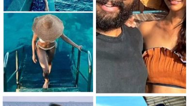 Pics of T'wood celebs soaking in the sun and sand at the Maldives