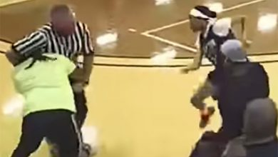 Ref gets body-slammed in wild youth basketball brawl