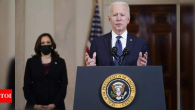 Joe Biden calls on US 'to unite as Americans' and avoid violence - Times of India