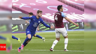 chelsea:  Timo Werner seals crucial win for Chelsea at West Ham United | Football News - Times of India