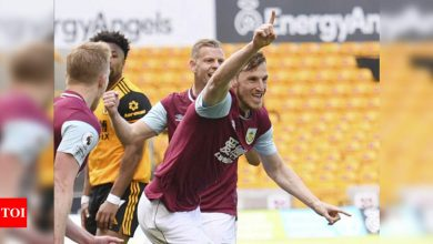 Chris Wood hat-trick leads Burnley rout of Wolves | Football News - Times of India