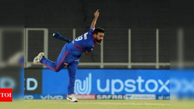 IPL 2021: Amit Mishra applies saliva on ball, umpire gives first warning | Cricket News - Times of India