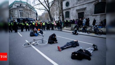 26 arrested in London as protesters clash with police - Times of India