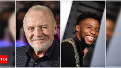 Academy Awards' best actor winner Anthony Hopkins pays tribute to fellow best actor nominee Chadwick Boseman - Times of India