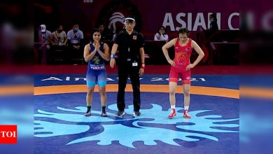 Asian Wrestling Championship: Sarita retains title; Seema and Pooja settle for bronze | More sports News - Times of India