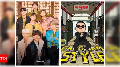 BTS' 'Dynamite' smashes PSY's 'Gangnam Style' record to become longest-charting song by a Korean act in Hot 100 history - Times of India