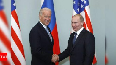 Biden proposes summit with Putin after Russia calls US 'adversary' over Ukraine - Times of India