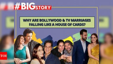 #BigStory! Why are Bollywood and TV marriages falling like a house of cards? - Times of India