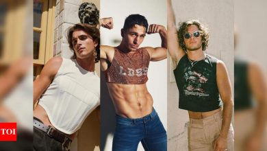 Crop tops for men are having a moment - Times of India