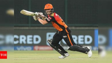David Warner becomes first batsman to smash 50th fifty in IPL, completes 10,000 T20 runs | Cricket News - Times of India