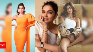Deepika Padukone to Nora Fatehi: Celebs warm up to one-shoulder trend - Times of India