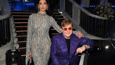 Elton John duets with Dua Lipa at star-studded Oscars 2021 viewing party