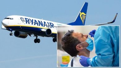 Flights: Ryanair to slash PCR test costs in half for passengers jetting off from May 17