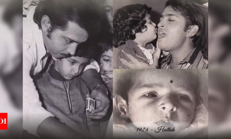 Hrithik Roshan's unseen childhood pictures unveiled by his mother Pinkie Roshan in anniversary video - Times of India