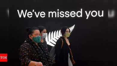 Hugs, tears as New Zealand-Australia travel bubble opens - Times of India