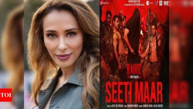Iulia Vantur on song 'Seeti Maar' from 'Radhe': I was taken by surprise when they decided to go ahead with the test song I've already recorded - Times of India