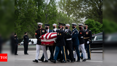 Joe Biden, lawmakers at tribute to slain Capitol Police officer - Times of India