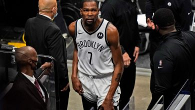 Kevin Durant leaves game with another injury in latest Nets concern