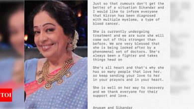 Kirron Kher diagnosed with multiple myeloma: Know all about the signs and symptoms - Times of India