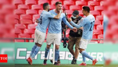 Laporte header seals League Cup triumph for Manchester City | Football News - Times of India