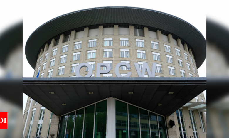 Majority of nations approve suspending Syria's OPCW rights - Times of India