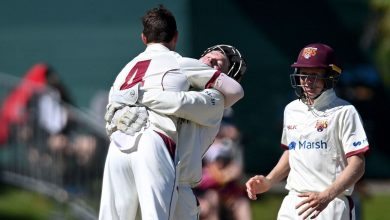 Mitchell Swepson nabs three as Queensland secure Sheffield Shield title with innings victory