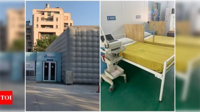 Mobile theatres turned into hospital beds for Covid-19 relief work - Times of India