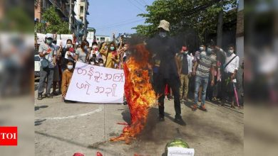 Myanmar news: Myanmar security forces fire on protesting medical workers, some hurt: Media | World News - Times of India