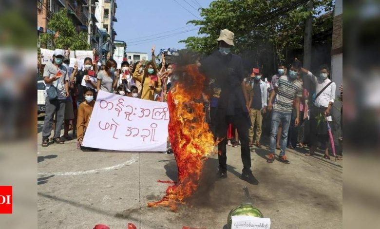 Myanmar news: Myanmar security forces fire on protesting medical workers, some hurt: Media   World News - Times of India