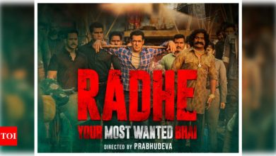 'Radhe: Your Most Wanted Bhai': Ahead of its trailer release, the makers unveil a new poster of the Salman Khan starrer - Times of India