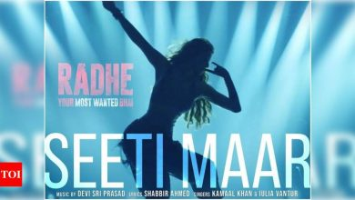 'Radhe' new song 'Seeti Maar': Salman Khan and Disha Patani's first dance track to release on THIS day - Times of India