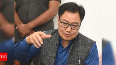 Rijiju expecting double-digit medal haul in Tokyo Olympics   More sports News - Times of India